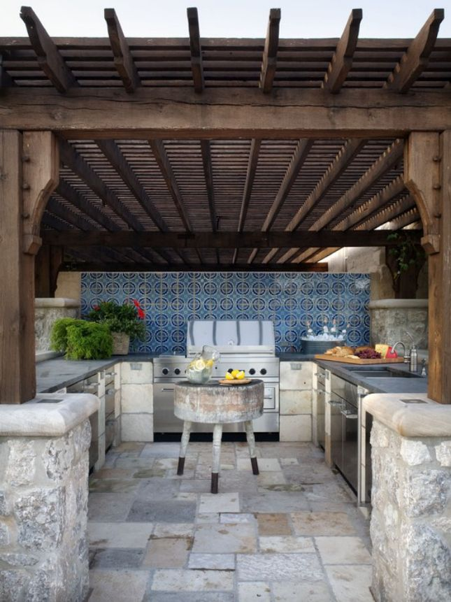 Top 25+ best Rustic outdoor kitchens ideas on Pinterest | Rustic ...
