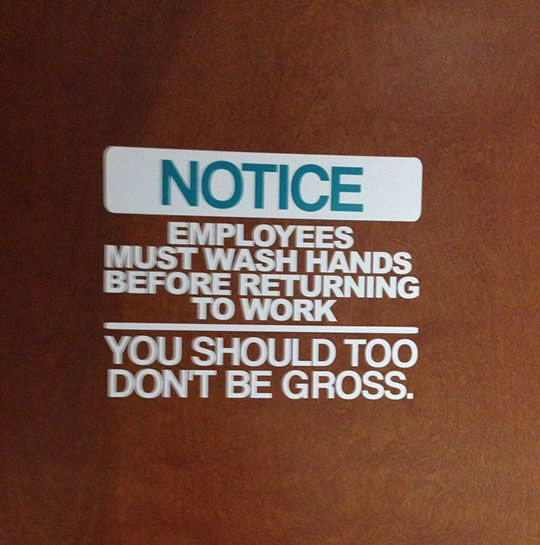Don't Be Gross - Honestly.  If you don't know what fecal choloforms are, you need to find out.  Remember those cruise ships that have a huge outbreak of illness on board that causes severe nausea and diarrhea?  You do?  Excellent.  Now if you touched ANYTHING in your bathroom, it's time to be good about hand washing.  Right now.  Before you touch your kids or a baby.