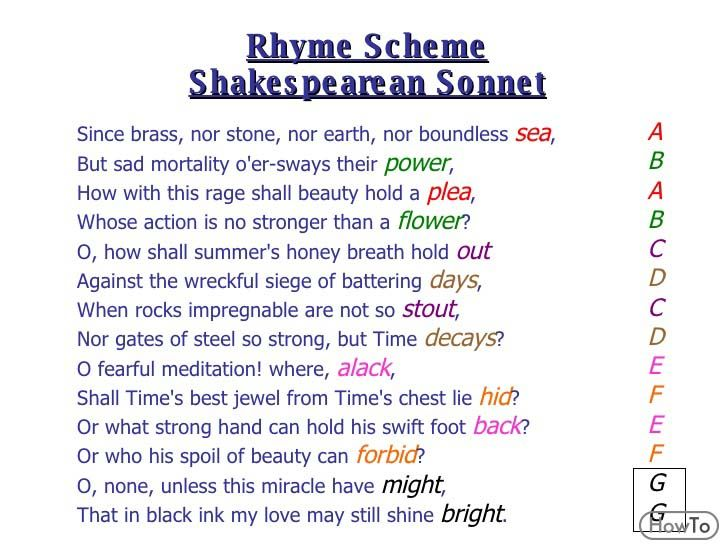Famous Rhyme Scheme Poems   Poetry for Lovers