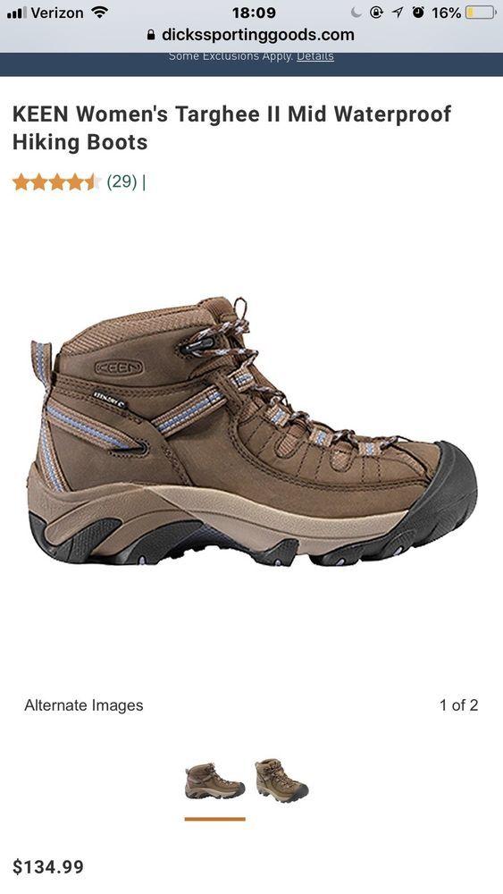 683b10f1a KEEN Womens Targhee II Mid Waterproof Hiking Boots US 6.5F #fashion  #clothing #