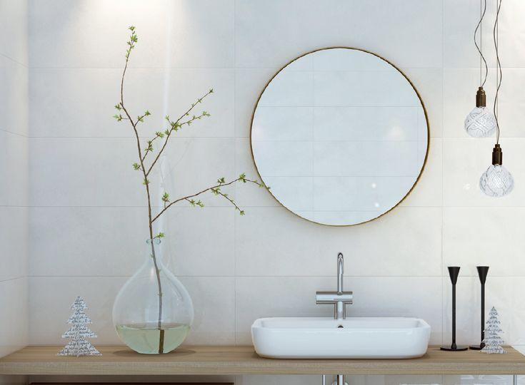 Ønsker du deg et enkelt og delikat bad? Flisene Cersanit Cloud i fargen grå gjør stilen komplett 🙌