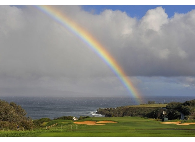 Rainbow over Kapalua at the 2013 Hyundai Tournament of Champions