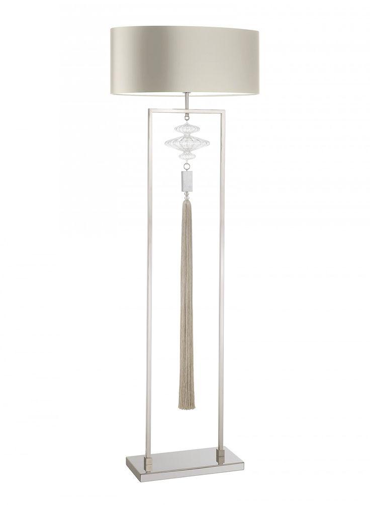 constance nickel and clear floor lamp - Decorative Floor Lamps