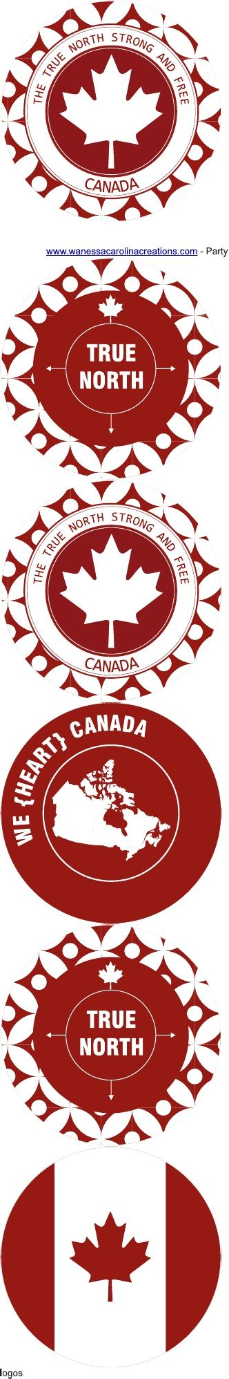 canada day love the leaf free printables