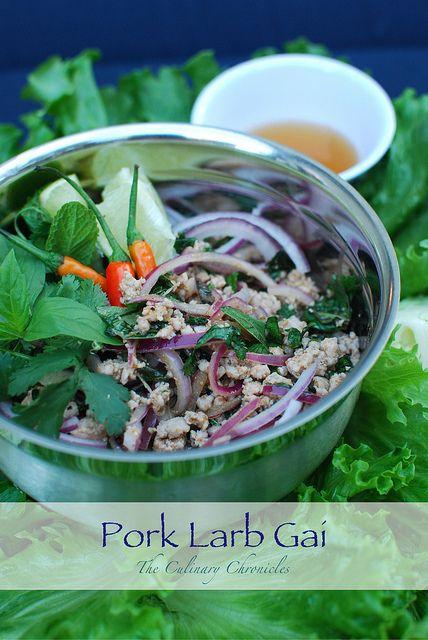 (Isaan) Pork Larb Gai – Thai Minced Pork Salad