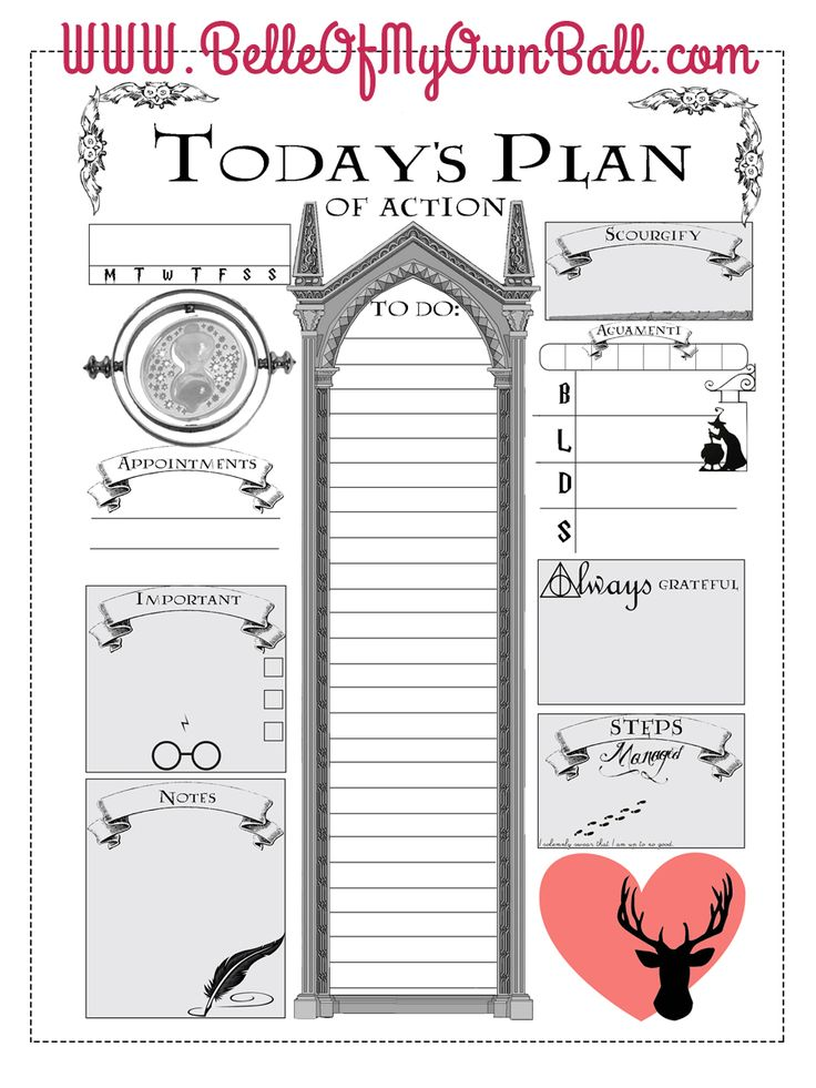 Best 25+ Daily Planner Printable Ideas Only On Pinterest | Daily