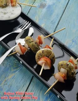 A traditional punjabi tikki morphs into an innovative low-cal satay when combined with veggies and paneer. As a cross-cultural touch, i have included my favourite spring onion dip in this recipe. At 44 calories per satay, we suggest a serving size of two.