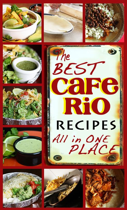 Cafe Rio Recipes -- Just in time for Cinco de Mayo! from favfamilyrecipes.com #caferiorecipes