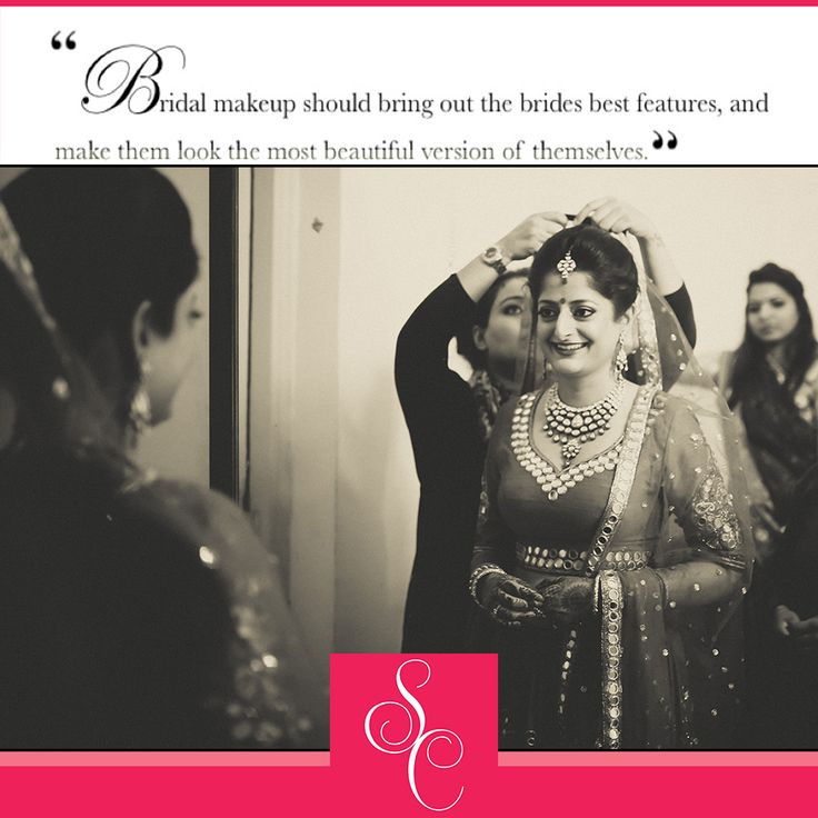 #‎Bridal‬ ‪#‎makeup‬ should bring out the best features of a bride and make them look beautiful! ~SHIKHA CHANDRA