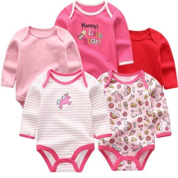 Cotton Romper Unisex Jumpsuit Long Sleeve Clothes Newborn Baby Bodysuits Overall