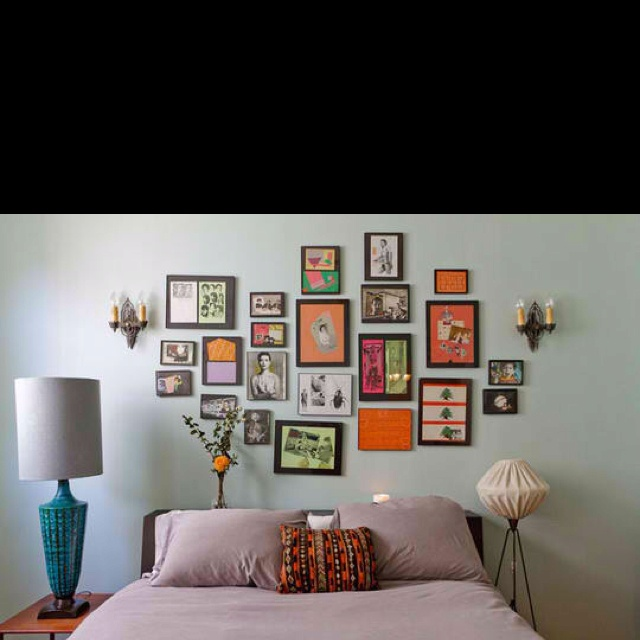 1000 Ideas About Bedroom Frames On Pinterest: Picture Frames Above Bed.