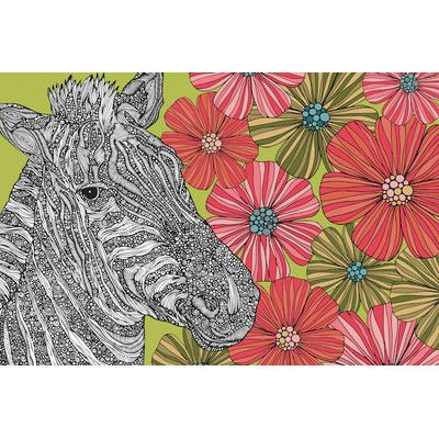 "East Urban Home Zebra Puzzle by Valentina Harper Graphic Art on Wrapped Canvas Size: 26"" H x 40"" W x 1.5"" D"