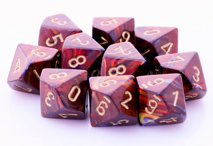 Need more dice? Scarab D10 Dice (Blue Blood) will keep you rolling! Each set has 10 ten-sided dice for your next gaming adventure. The Scarab D10 is cast in an amazing blend of blue, red and gold. Eac
