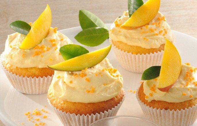 Cupcakes mit Mango
