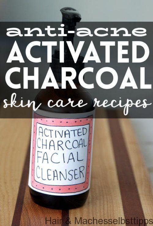 Aktivkohle-Hautpflege-Rezepte für zu Akne neigende Haut #HautpflegeDIY #Hautpfl… c5ad01cd84ff91d2aceb283e9a5c5221