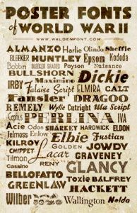 Poster Fonts of World War II - Walden Font Gallery  tjn