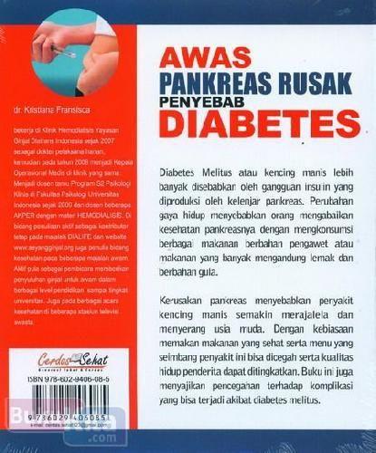 Awas Pankreas Rusak Penyebab Diabetes