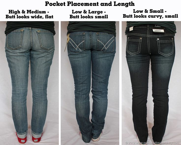 On jeans, and why some are flattering and some are not