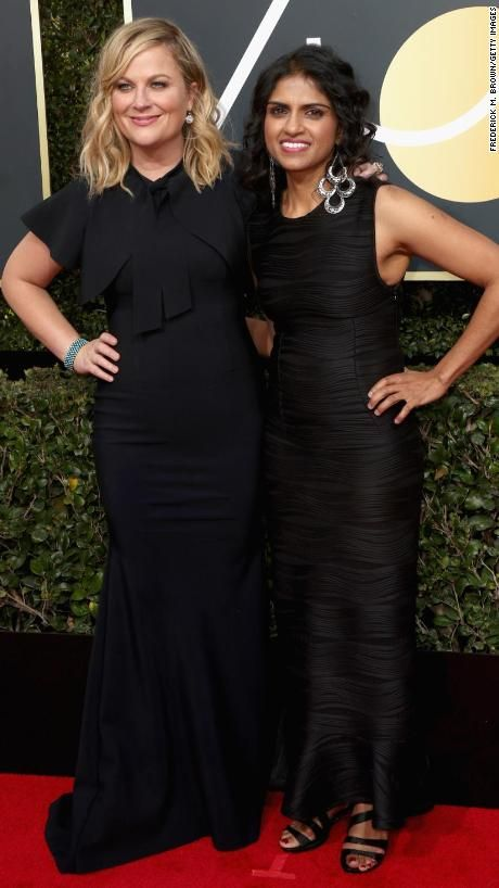Amy Poehler, left, and Saru Jayaraman. Jarayaman advocates for restaurant workers and co-founded the group Restaurant Opportunities Centers United.