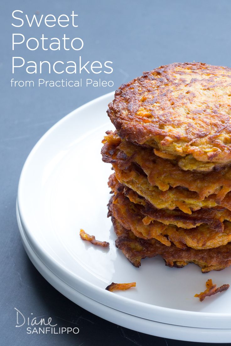 "Sweet Potato Pancakes from ""Practical Paleo"" 