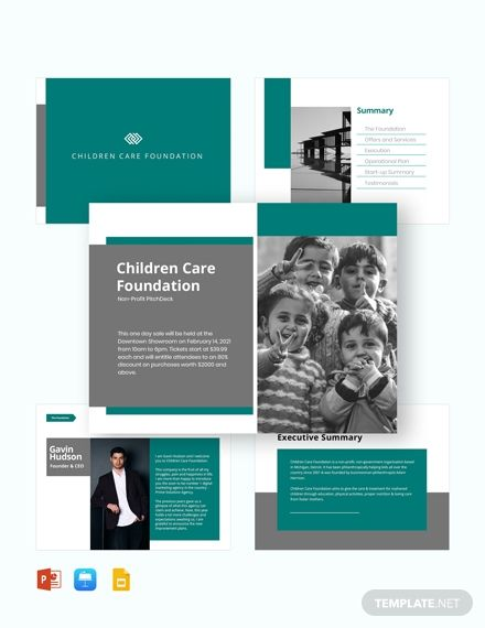 Nonprofit Pitch Deck Template Powerpoint Ppt Apple Mac Keynote Google Slides Design Brochure Brochure Deck