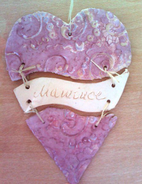 Srdíčko z keramické hlíny | Předškoláci - omalovánky, pracovní listy