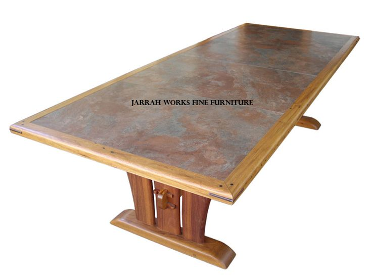 Tile Top Table from Recycled Ipil and Narra
