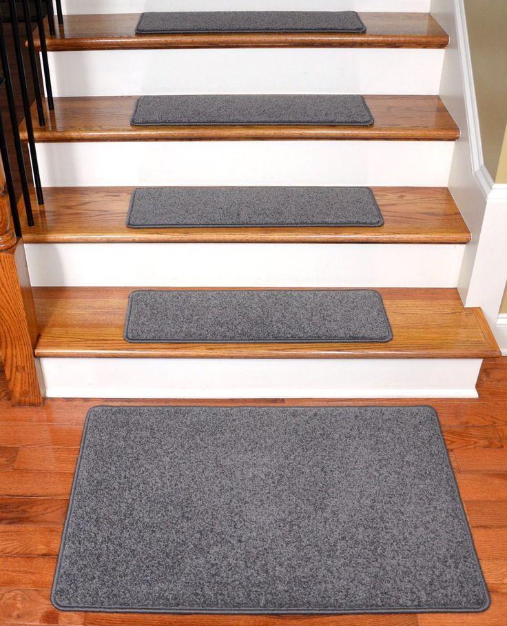 Best Dean Carpet Stair Treads 27 X 9 Gray Plush Set Of 13 640 x 480