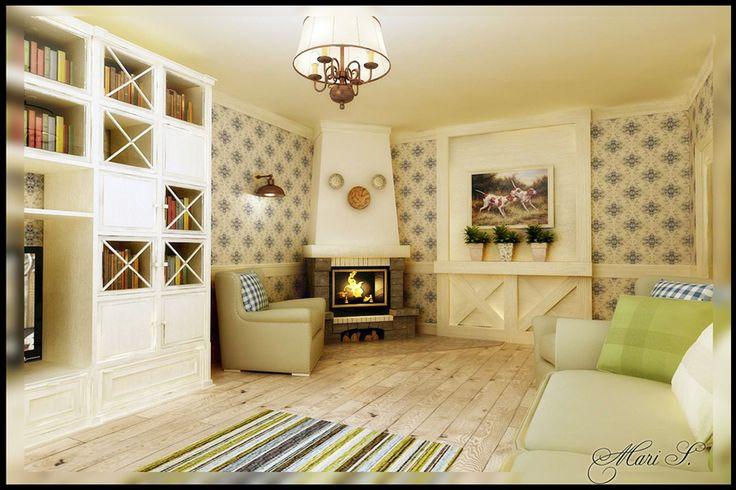 гостиная в стиле кантри фото: 18 тыс изображений найдено в Яндекс.Картинках