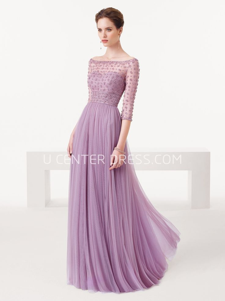 $123.89-Sheath Beaded Off-The-Shoulder Tulle Purple Prom Dress with Half Sleeves. http://www.ucenterdress.com/sheath-half-sleeve-beaded-off-the-shoulder-tulle-prom-dress-pMK_300772.html.  Shop for cheap prom dresses, party dresses, night dresses, maxi dresses, little black dresses, junior prom dresses, girls prom dresses, designer prom dresses for sale. We have great 2016 prom dresses on sale. Buy prom dresses online at UcenterDress.com #prom #dress today!