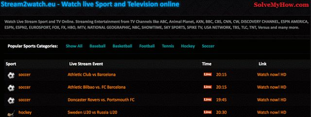 Top 10 Best Free Sports Streaming Sites 2017 (updated)  http://www.solvemyhow.com/2017/03/free-sports-streaming-sites.html  #free #sports #streaming #sites