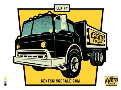 Gents Original Ginger Ale - Delivery Truck Sticker