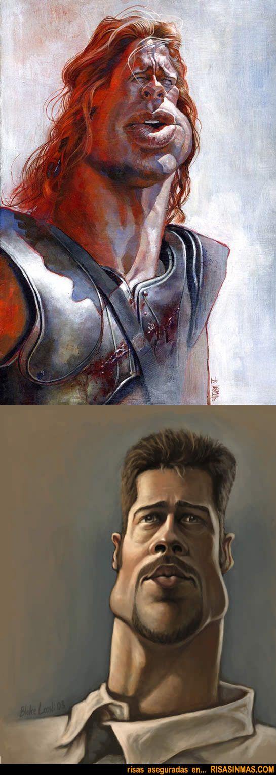 Caricaturas de Brad Pitt | Risa Sin Más