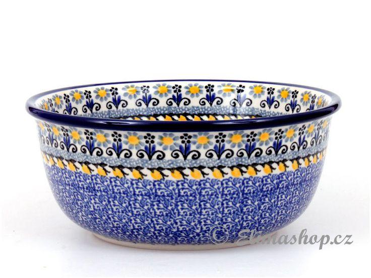 "Bowl 20cm (7,5"") - *** ELIMAshop.cz *** Handmade Polish Pottery from Boleslawiec . Bunzlauer keramik . ceramics . stoneware . ELIMAshop.cz , shipping worlwide . Artystyczna ."
