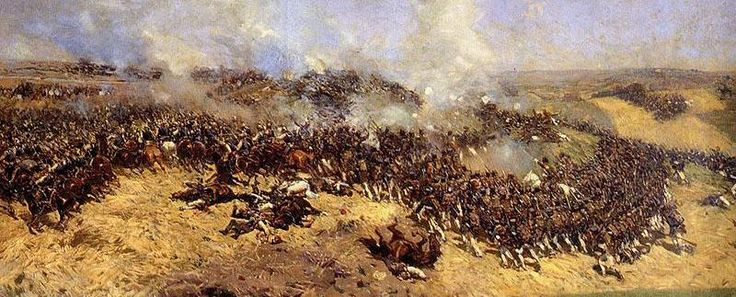 Battle of Borodino 1812. Fight for the Great Redoubt.