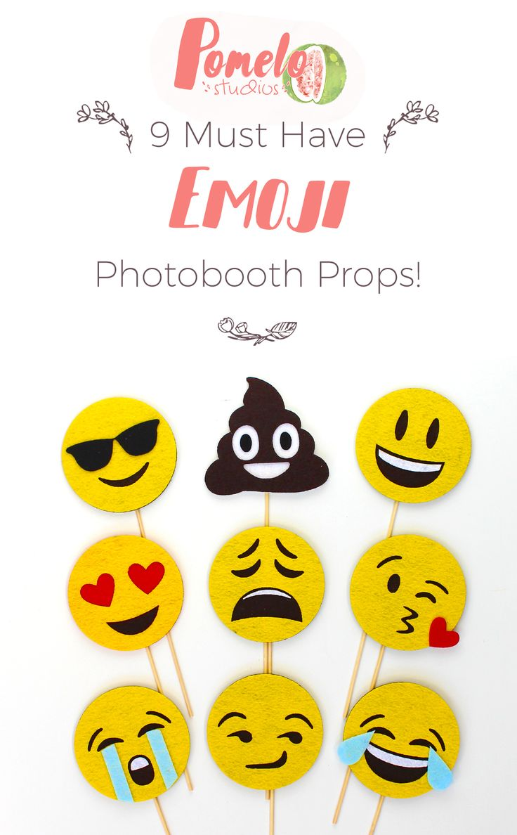 Super cute emoji faces for photobooths! would be a great idea for a wedding or birthday party!