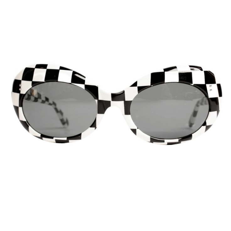 1960s Stopsol Checkered Sunglasses