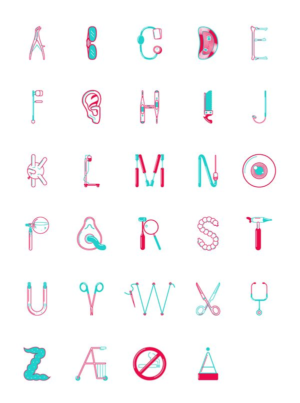 Medic Type by Daniel Brokstad, via Behance