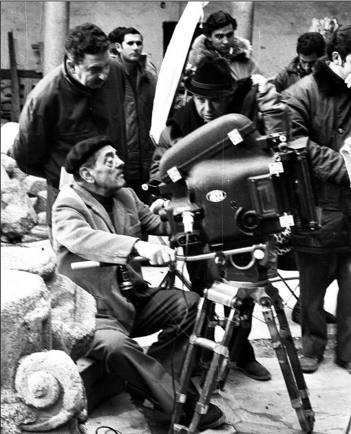 Luis Bunuel on set