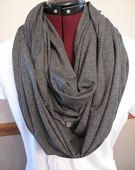 Just Between You & Me (TM) Infinity Nursing Scarf - HEATHERED Charcoal GREY nursing cover