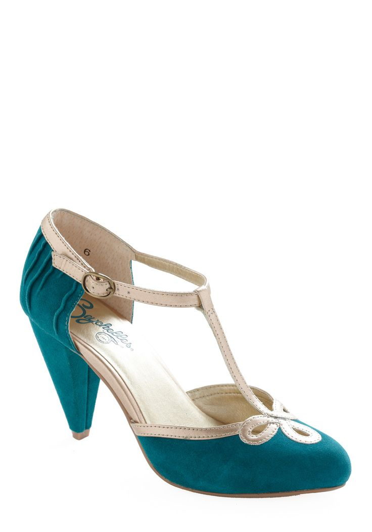 All Dressed Up Heel by Seychelles - Blue, Tan / Cream, Floral, Cutout, Wedding, Party, 20s, Variation, Formal, Top Rated