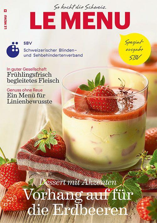 Titelseite der Spezialausgabe LE MENU SBV 2015