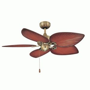 #ceilingfan #tropicalfan #tropical Tropical Little Bay Ceiling Fan - palm blades. The Little Bay features a unique design which can be used in wet areas, as it has an IP 44 rating. It has a 3 speed pull chain switch and also has wall control and remote control options. A light may also be attached to this fan.