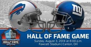 Buffalo Bills vs New York Giants NFL Hall of Fame Game 2014 Live Streaming