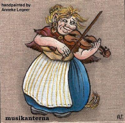 """"""" Musikanterna  """", handpainted by Anneke Legeer,  the Netherlands,  inspired by Rolf Lidberg.  Weert ,  oktober 2010."""