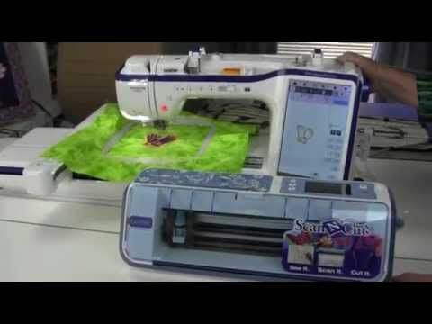 Scan and Cut and Brother Embroidery, Dream Machine - YouTube