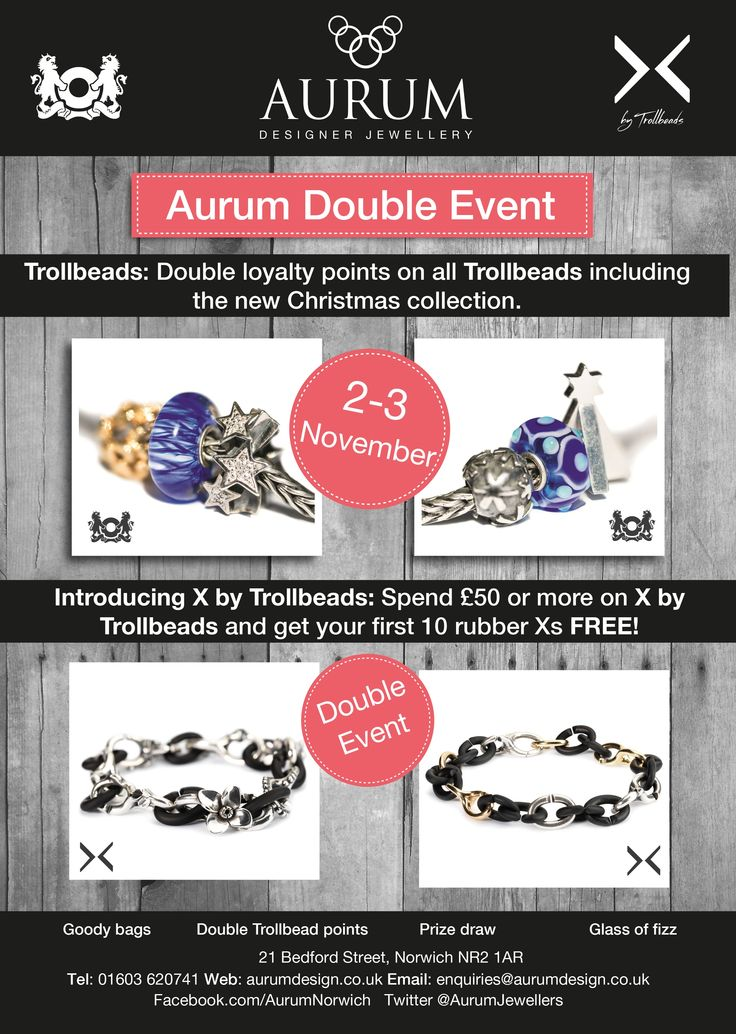 Trollbead event at Aurum Jewellers, Bedford Street - 2 & 3 November 2013