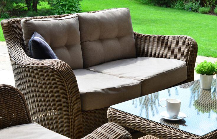 Meble ogrodowe z technorattanu Torino VIP zestaw wypoczynkowy sofa