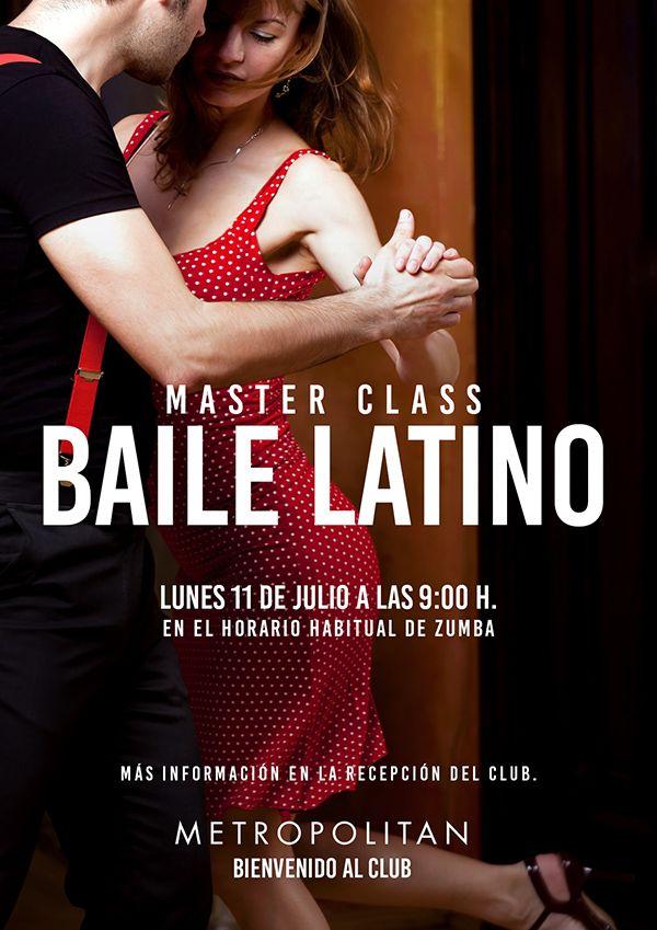 El próximo lunes, 11 de Julio a las 9:00 h. en Metropolitan Sagrada Familia, realizaremos una Master Class de Baile Latino en el horario habitual de ZUMBA. Ven a sentir la energía de los ritmos y coreografías más calientes del momento.  Más información en la Recepción del Club.