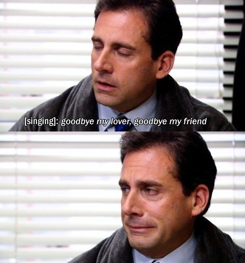 When Michael Was Heartbroken And Kept Listening To The Itunes Preview Of Goodbye My Lover On Repeat The Office Worlds Best Boss Michael Scott